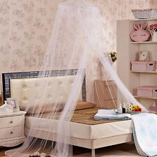 Round Lace Curtain Dome Princess Mosquito Net Bed Canopy Netting White Pink