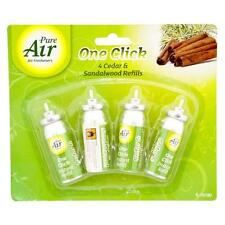 4 ONE TOUCH AIR FRESHENER REFILLS GLADE SENSE & SPRAY COMPATIBLE AROMA SCENT