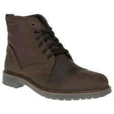 New Mens Firetrap Brown Totem Leather Boots Lace Up