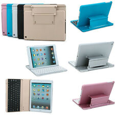 Aluminum shell Stand Case Cover Bluetooth Keyboard For Apple iPad 2 3 4 5 Air