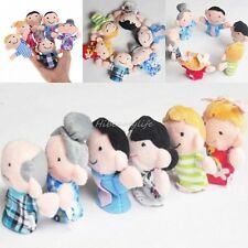 Family Set Finger Puppets Baby Kids Tell Story Play Plush Toy Education 6 Pc