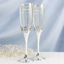 Happily Ever After Disney Cinderella Fairy Tale Wedding Glass Toasting Flutes