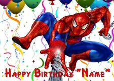 SPIDERMAN PARTY Edible Cake Topper Image Frosting sheet - quarter and half size