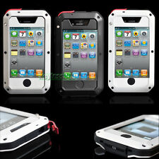 New Aluminum Metal ShockProof DustProof Case Cover Glass For iPhone 4 4G 4S AU