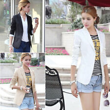 New Fashion Women's Ladies Slim Blazer Coat Casual Jackets V-Neck Suit Outerwear