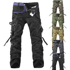 Hot New Casual Mens Military Army Cargo Camo Combat Work Trousers Fitted Pants