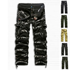 Winter Casual Mens Military Army Cargo Camo Combat Work Trousers Pants