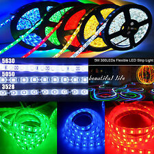 5M 300 SMD 3528/5050/5630 LED Strip Light RGB/Bianca/Fredda/  Striscia Luce