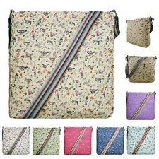 Ladies Girls Flower Polka Dot Cross Body Messenger Satchel Shoulder School Bag