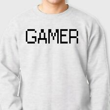GAMER Xbox PS3 PC Geek T-shirt Gaming Wii PS2 Funny Gift Crew Neck Sweatshirt