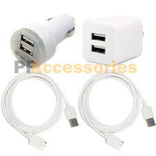 Dual USB Home Wall + Car Charger + 3.0 Data Cable for Galaxy S5 Note 3 Note