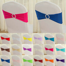 17 Color New Single Layer Lycra Spandex Band with Plastic Buckle for Chair Cover
