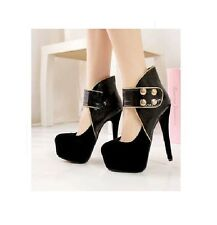 New Ladies Winter Sexy Black Ankle Boots, Pumps, Evening High Heels sizes 6,7,8