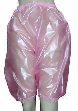 PVC Bloomers Sissy Pants Knickers Shiny Semi Clr Pink Adult Baby Panties Plastic