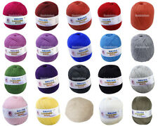 Supersoft Durable Cashmere Knitting Weaving Crocheting Wool Yarn U Pick Color