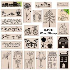 U-Pick Hero Arts Medium Wood Mount Rubber Stamp of Your Choice Holiday Everyday