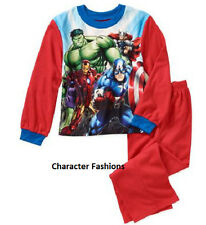 AVENGERS 4 5 6 7 8 10 12 Boys PAJAMAS PJS Shirt Top Pants HUL IRON MAN MARVEL