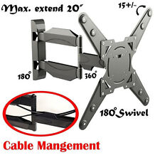 """Articulating Tilt Swivel LCD LED TV Wall Mount Supports 26"""" to 55"""" Screen Sizes!"""