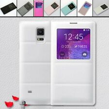 Intelligent Slim S-View Smart Leather Flip Case Cover for Samsung Galaxy Note 4