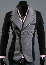CHEAPEST FOR Men Fashion 2014 1 Splice Patched Casual Coats Suit Blazer Jackets