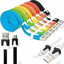 2M Micro USB Flat Anti Tangle Noodle Data Sync Charge Cable Various Mobile Phone