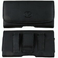 Leather Sideways Belt Clip Case Pouch Cover Holster for Samsung Cell Phones