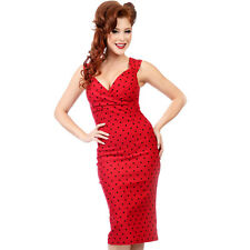 Steady Clothing Diva Polka Dot Wiggle Dress Rockabilly Pin Up Pencil Bombshell