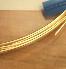 14K Solid YELLOW GOLD HALF-ROUND WIRE 3 or 6 inches Gauges 14,16, 22 PURE