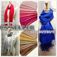 Solid Pashmina Silk Cashmere Wool Shawl Scarf Wrap -perfect party favor -66color