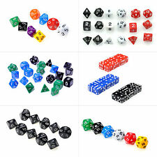 D4 D6 D8 D10 D12 D20 Playing Multi Sided Dices RPG Party Game Educational Favors