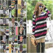 Fashion Maternity Sweater Casual Womens Multicolor Shirt Pregnant Knit Long Tops