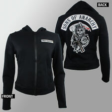 Authentic SONS OF ANARCHY Juniors Patch Logo Highway Fleece Jacket S-2XL NEW