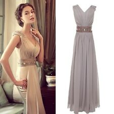 2015 Style Classy Evening Formal Bridesmaid Wedding Gown Guest Prom Party Dress