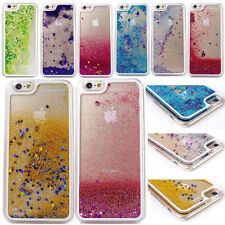 """For iPhone 4 5 6 4.7"""" Bling Glitter Quicksand Back Case Cover Transparent Liquid"""