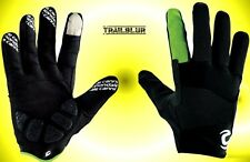 Cannondale Black / Lime Medium M Long Finger Gloves Mountain Bike Cycling NEW
