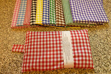 "HANDMADE GINGHAM WHEAT BAGS / CHILL PACKS - 6"" X 10"" - WITH OR WITHOUT LAVENDER"