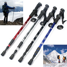 Anti-Shock Trekking Hiking Walking Adjustable Pole Stick Cane Crutch Alpenstock