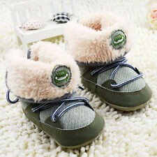 Baby Boys Winter Boots  Faux Fur Crib shoes Shoes Size Newborn to 18 Months