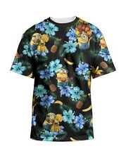 Despicable Me Minions Tropical Licensed NWT Adult T-Shirt - Black