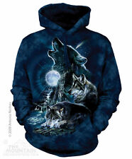 The Mountain Bark at the Moon Wolf Hoodie Sweatshirt Adult Size