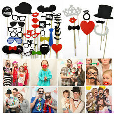 DIY Photo Booth Props Stick Lips Mustache On Wedding Birthday Christmas Party