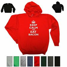 Keep Calm And Eat Bacon Funny Crewneck Sweatshirt Epic Food Party Gift Hoodie