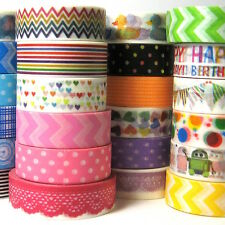 Washi tape 15 patterns decorative adhesive scrapbooking DIY paper craft gift