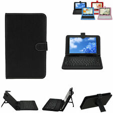 Universal Leather Case Cover with Keyboard for android 7 9 9.7 10 inch Tablet PC