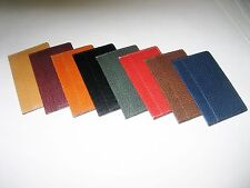 Genuine leather credit card holder in 8 colors, $6.00 each, free shipping U.S.A.