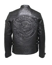 Affliction Black Premium Limited On fire Men's Leather Biker Jacket Black New