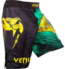 Venum Brazilian Flag MMA Fight Shorts - Black