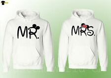 Couple Hoodie Mr and Mrs Husband Wife His and Hers Couple Matching  Sweat -WHITE
