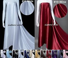 "30mm 100% Pure Silk Fabric Bridal Clothing Sewing Wide 45"" 12 Colours Sistersilk"