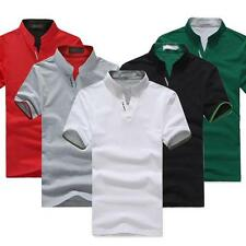 Korean Summer Men's T-shirt Short sleeve Solid color Work clothes POLO Shirt New